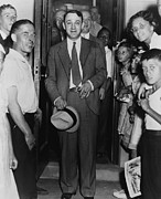 Irs Photos - Dutch Schultz, Emerging From Doorway by Everett