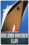 Ocean Liner Framed Prints - Dutch Travel Poster, 1932 Framed Print by Granger