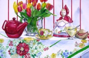 Teapot Paintings - Dutch Treat by Jane Loveall