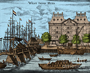Colonization Posters - Dutch West India Company Warehouse Poster by Photo Researchers