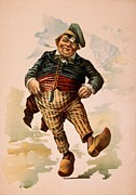 Stereotype Posters - Dutchman Dancing In Wooden Shoes Poster by Everett