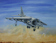Harrier Paintings - Duty Done and Safely Home by Richard Savage