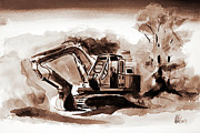 Heavy Equipment Mixed Media Prints - Duty Dozer III Print by Kip DeVore