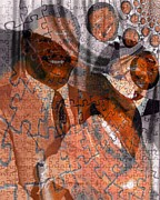 Michelle Mixed Media Posters - Duvalier et Bennette  Poster by Fania Simon