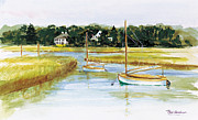 Massachusetts Coast Paintings - Duxbury Marsh by Paul Gardner