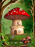 Fungi Digital Art - Dwarf Land by Simone Gatterwe