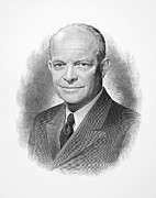 Dwight Eisenhower Posters - Dwight D. Eisenhower Poster by Granger