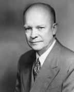 Leadership Metal Prints - Dwight Eisenhower Metal Print by War Is Hell Store