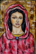 Christian Art . Devotional Art Painting Metal Prints - Dyanne Metal Print by Rain Ririn