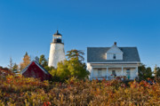 New England Lighthouse Prints - Dyce Head Lighthouse Print by John Greim