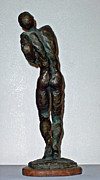 Bronze Sculptures - Dying Warrior  by John Neumann