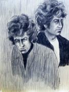 Expressionist Drawings - Dylan and Dylan by Judith Redman
