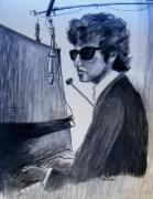 Expressionist Drawings - Dylan at the Piano by Judith Redman