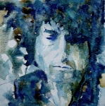 Folk Painting Framed Prints - Dylan Framed Print by Paul Lovering