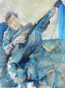 Bob Dylan Painting Originals - Dylan Tangled Up in Blues by Jeffrey Carnal