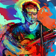 Guitar Player Prints - Dylans Performance Print by James Thomas
