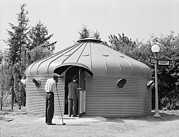 Dymaxion Prints - Dymaxion House, Designed By Futurist Print by Everett