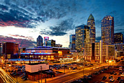 Charlotte Photo Prints - Dynamic cloudy sky over Charlotte NC Print by Patrick Schneider