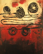 Dynamic Red 3 Print by Kathy Sheeran