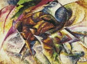 Canvas  Paintings - Dynamism of a Cyclist by Umberto Boccioni