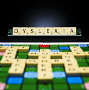 Scrabble Framed Prints - Dyslexia Framed Print by Kevin Curtis