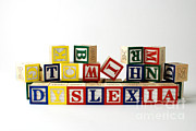 Wooden Blocks Framed Prints - Dyslexia Framed Print by Photo Researchers, Inc.