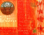 Painted Mixed Media - E Pluribus Unum by Nik Olajuwon Shumway