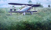Plane Paintings - E ppley Airfield by Judy Groves