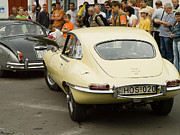 Bmw Racing Car Photos - E type Jaguar by Odon Czintos