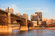 High-rise Prints - Eads Bridge at St Louis Print by Semmick Photo