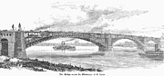 19th Century Photos - Eads Bridge, St Louis by Granger