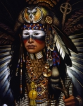 Native American Painting Metal Prints - Eagle Claw Metal Print by Jane Whiting Chrzanoska