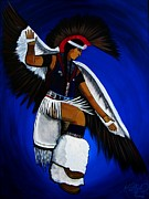 American Eagle Paintings - Eagle Dancer by Michelle Wilmot