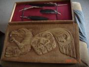 Spirit Reliefs - Eagle Feather Case by Ken Jefferson