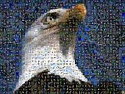 Mosaic Digital Art Prints - Eagle Print by Gilberto Viciedo