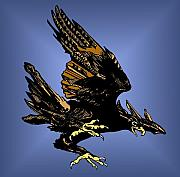 Keaton Digital Art - Eagle In Flight by John Keaton