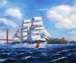Coast Guard Painting Posters - Eagle In the Gate Poster by Norah Brown