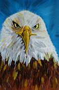 Gruenwald Mixed Media Framed Prints - Eagle Framed Print by Ismeta Gruenwald