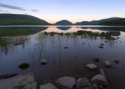 Eagle Lake Dusk Reflections Print by Stephen  Vecchiotti