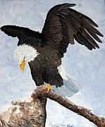 Patriotic Paintings - Eagle Landing by Terry Honstead