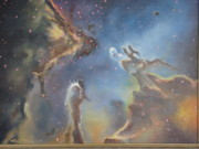 Nebulae Painting Originals - Eagle Nebula by Kim Estes