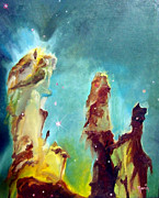 Cosmos Drawings Originals - Eagle Pillars by Bernard MORIN