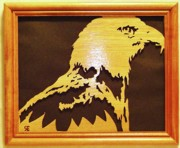 Woodcarving Sculpture Originals - Eagle by Russell Ellingsworth