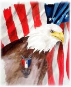 American Flag Framed Prints - Eagle Scout Framed Print by Rosalea Greenwood