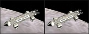 Stereoscopy Photos - Eagle Shuttle - Gently cross your eyes and focus on the middle image by Brian Wallace