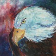 Respect Painting Prints - Eagle Print by Sioux Storm