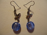 Fashion Jewelry Prints - Eagle Soars Blue Sky Earrings Print by Jenna Green