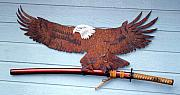 Sword Sculpture Posters - Eagle SOLD   Poster by Steve Mudge