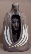 Indian Ceramics - Eagle Stone by Gaylon Dingler