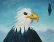 American Eagle Paintings - Eagle by Suzanne  Marie Leclair